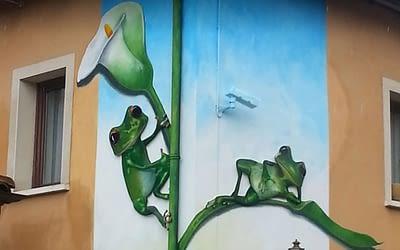 Fresque pour le restaurant «le Duverger».
